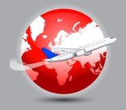 Het vliegen van het vliegtuig royalty-vrije illustratie