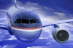 Het vliegen van het vliegtuig Royalty-vrije Stock Afbeelding