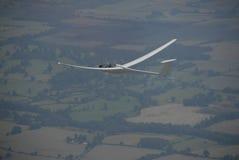Het vliegen van het zweefvliegtuig   Stock Afbeeldingen