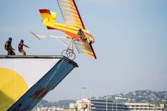 Het Vliegen van Red Bull Flugtag Dag Stock Afbeeldingen