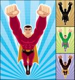 Het Vliegen van Superhero Stock Afbeeldingen