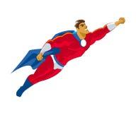 Het vliegen van Superhero Stock Afbeelding