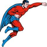Het vliegen van Superhero Royalty-vrije Stock Foto