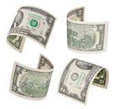 Het vliegen van twee dollars Royalty-vrije Stock Afbeeldingen