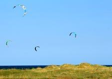 Het vliegen van vliegers Royalty-vrije Stock Foto's
