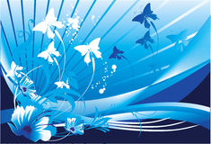 Het vliegen van vlinders Stock Foto's