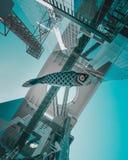 Het vliegen vissenkoinobori van Japan stock fotografie