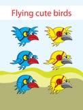 Het vliegen vogelanimatie Stock Foto