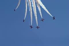 Het vliegen vorming Royalty-vrije Stock Fotografie