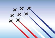 Het vliegen in vorming stock illustratie