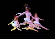 Het vliegen in wit Royalty-vrije Stock Fotografie