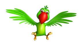 het vliegende karakter van het Papegaaibeeldverhaal Stock Foto