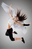 Het vliegende meisje Stock Foto's