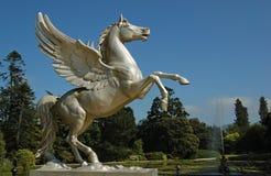 Het vliegende paard van het standbeeld Stock Foto