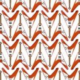 Het vliegende Patroon van de Gitaar van V royalty-vrije stock afbeeldingen