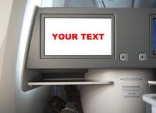 Het vliegende scherm op passagierszetel Stock Foto