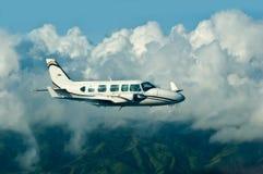 Het vliegende vliegtuig Stock Afbeeldingen
