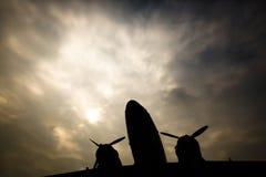 Het vliegtuig stock fotografie