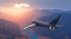 Het vliegtuig stock afbeeldingen