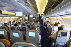 In het vliegtuig Stock Afbeeldingen