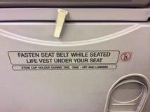 In het vliegtuig Royalty-vrije Stock Afbeelding