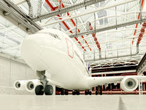 Het vliegtuig stock foto's