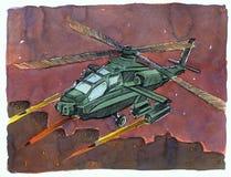 Het vliegtuig bombardeert vector illustratie