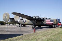 Het vliegtuig in CAF WO.II AIR TOONT Dallas Executive Airport royalty-vrije stock fotografie