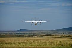 Het vliegtuig gaat van start Royalty-vrije Stock Afbeelding