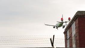 Het vliegtuig landt