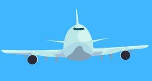 Het vliegtuig landt royalty-vrije illustratie