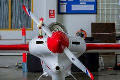 Het vliegtuig nr van Chip Mapoles ` s 40 ` Misserusa ` vliegtuigen modelleren Cassutt Slipknot in Luchtras 1 Wereldbeker Thailand stock afbeeldingen