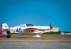 Het vliegtuig nr van Chip Mapoles ` s 40 ` Misserusa ` vliegtuigen modelleren Cassutt Slipknot in Luchtras 1 Wereldbeker Thailand stock foto's