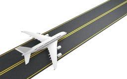 Het vliegtuig treft te vliegen voorbereidingen Stock Foto