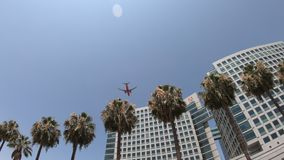 Het vliegtuig van Adobe San Jose stock footage