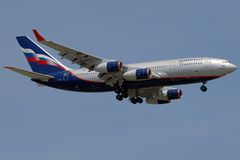 Het vliegtuig van Aeroflot Royalty-vrije Stock Fotografie