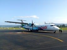 Het vliegtuig van Air Vanuatu ATR72 Stock Afbeeldingen