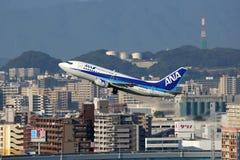 Het vliegtuig van ANA All Nippon Airways Boeing 737-500 Stock Afbeeldingen