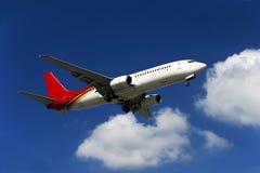 Het vliegtuig van BOEING 737-800 Stock Afbeeldingen