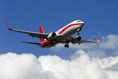 Het vliegtuig van BOEING 737-800 stock fotografie