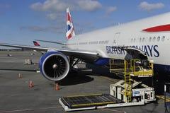 Het vliegtuig van British Airways Royalty-vrije Stock Afbeeldingen