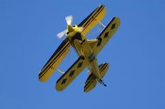 Het vliegtuig van de dubbel-vleugel Stock Afbeeldingen