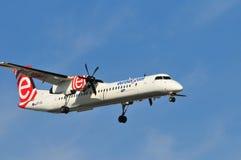 Het vliegtuig van de Eurolotluchtvaartlijn Stock Fotografie