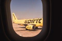 Het vliegtuig van de geestluchtvaartlijn Royalty-vrije Stock Afbeeldingen