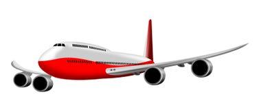 Het vliegtuig van de jumbojet Royalty-vrije Stock Foto