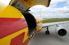Het vliegtuig van de lading Royalty-vrije Stock Afbeeldingen