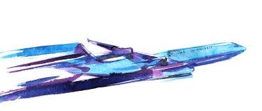 Het vliegtuig van de lucht Royalty-vrije Stock Foto
