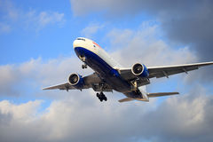 Het vliegtuig van de lucht