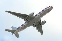 Het vliegtuig van de lucht stock afbeelding