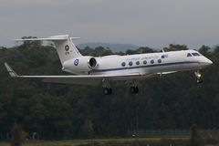 Het vliegtuig van de Luchtmacht van Griekenland Royalty-vrije Stock Foto's